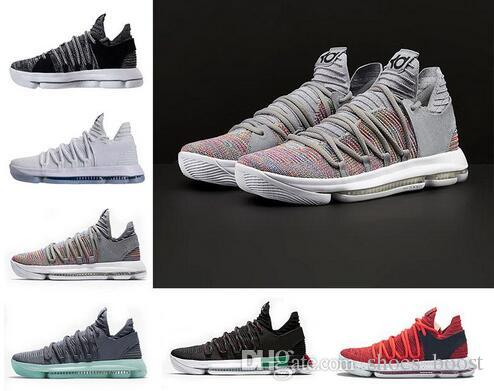 2d7b633ba33 2018 Zoom Kd 10 Multi Color Oreo Numbers BHM Igloo Mens Basketball Shoes 10s  X Elite Mid Kevin Durant Sneakers Trainers Zapatos Chaussures UK 2019 From  ...