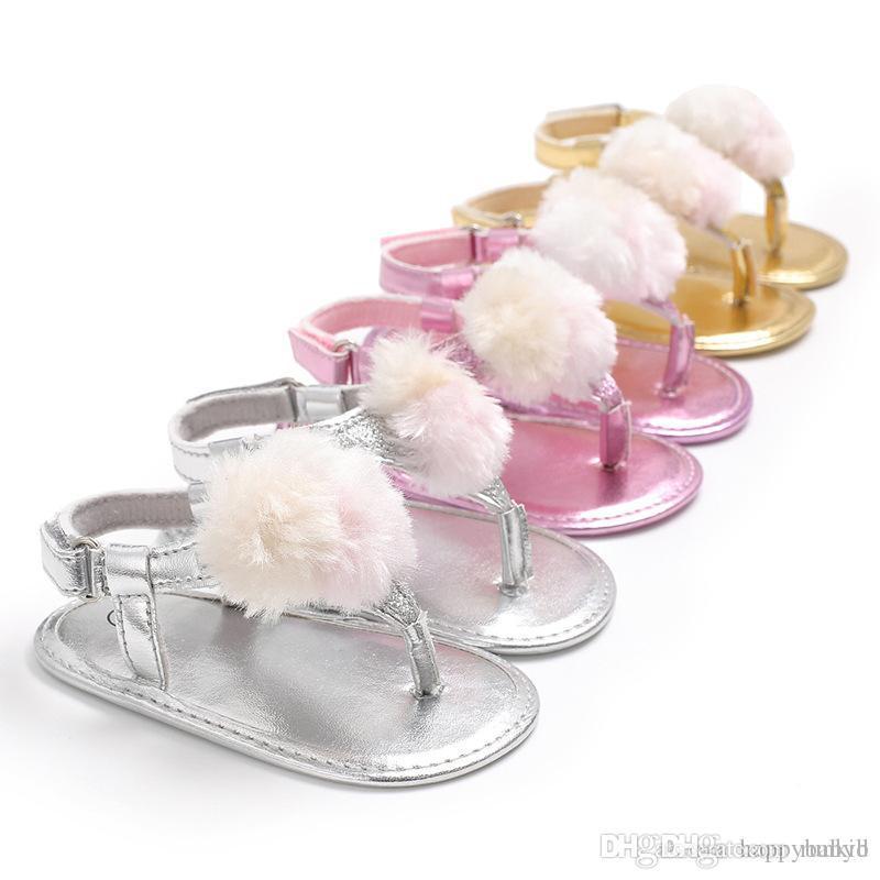 b0bbb3b5f Compre Verano Sandalias Infantiles Bebé Pu Sandalias De Cuero Niñas Niño  Zapatos Casuales Top Bebé Recién Nacido Zapatos Para Caminar A  3.44 Del  Runkid ...