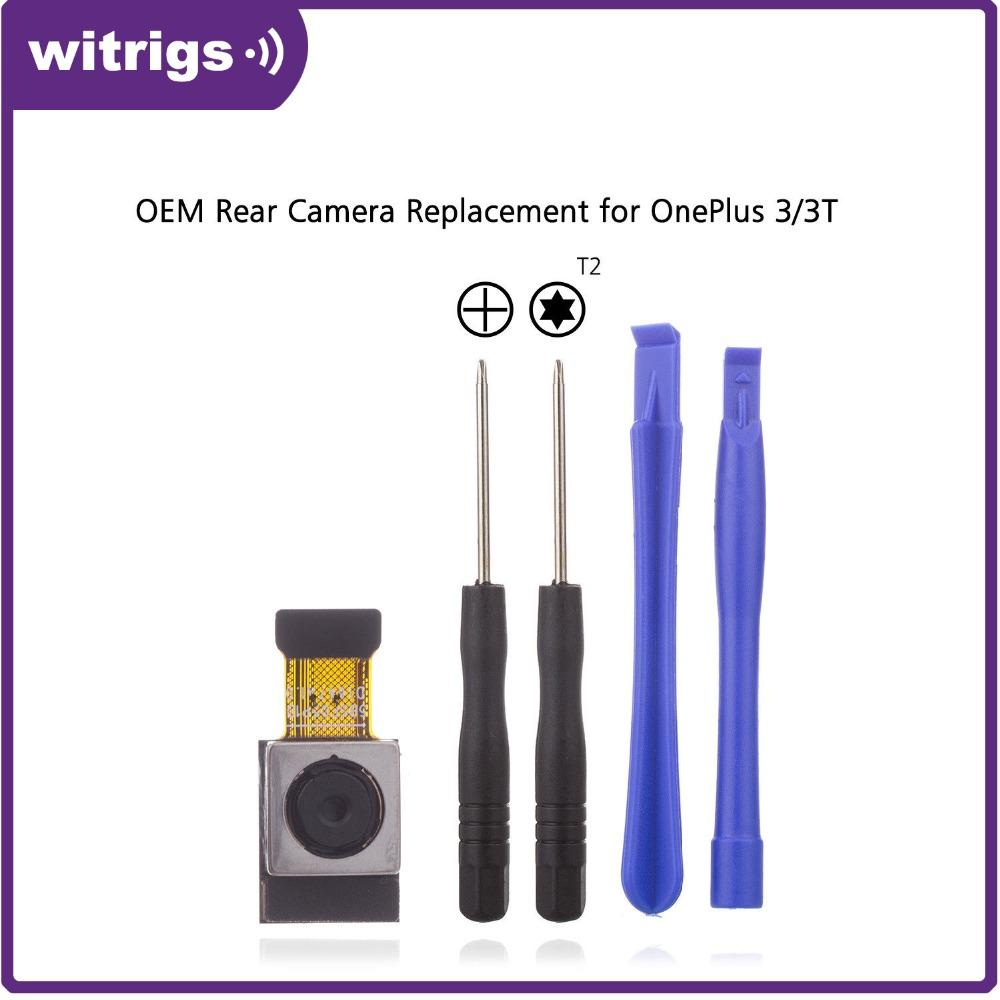 WITRIGS Oneplus 3 / One Plus 3T Rear Camera with Foam Back Camera Flex  Cable Repair Replacement Parts