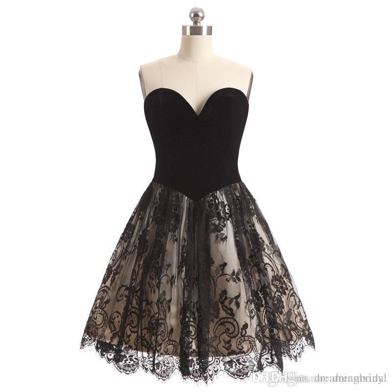 Vestidos negro corto de fiesta