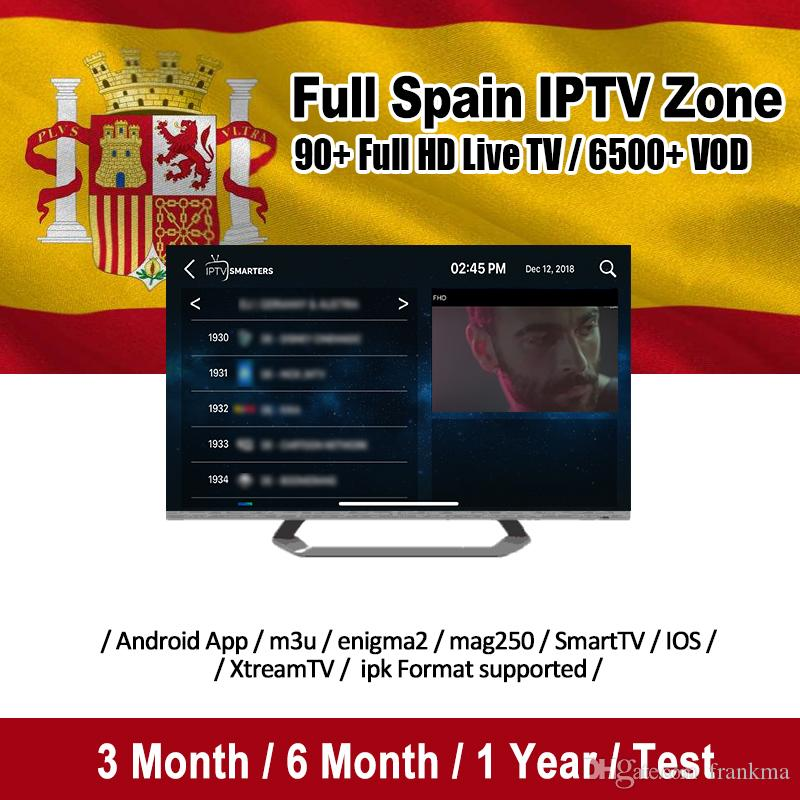 Best Spain IPTV Subscription With 30+ Countries 7000+Live And 4000 VOD For Smart TV Abonnement Iptv Mag Box M3U Android TV Box