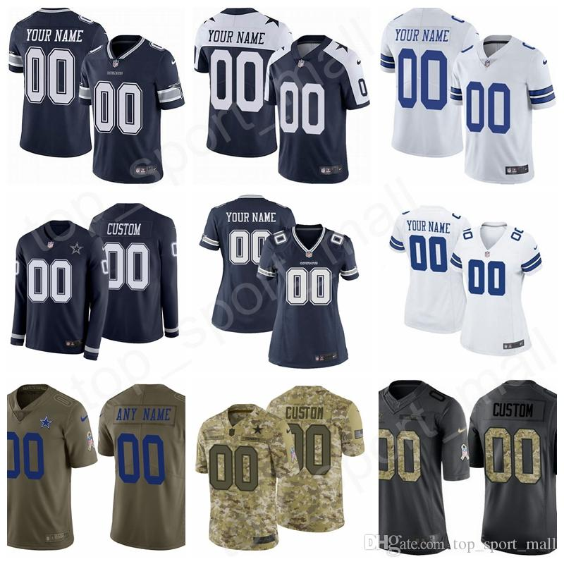 2e388b1988d 2019 Custom Football Name Men Women Kids Dallas Cowboys Jersey Prescott  Elliott Cooper 9 Tony Romo Michael Gallup Jeff Heath Chidobe Awuzie Jones  From ...