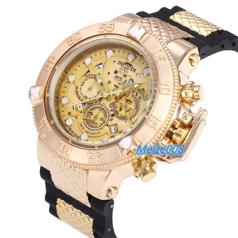3e528b91cd3 Compre 7 Cores Todos Os Trabalhos De Função Marca Reloj Invicta Homens  Relógios De Luxo Caso Rotativo Big Bang Mens Relógios De Designer De  Borracha Faixa ...