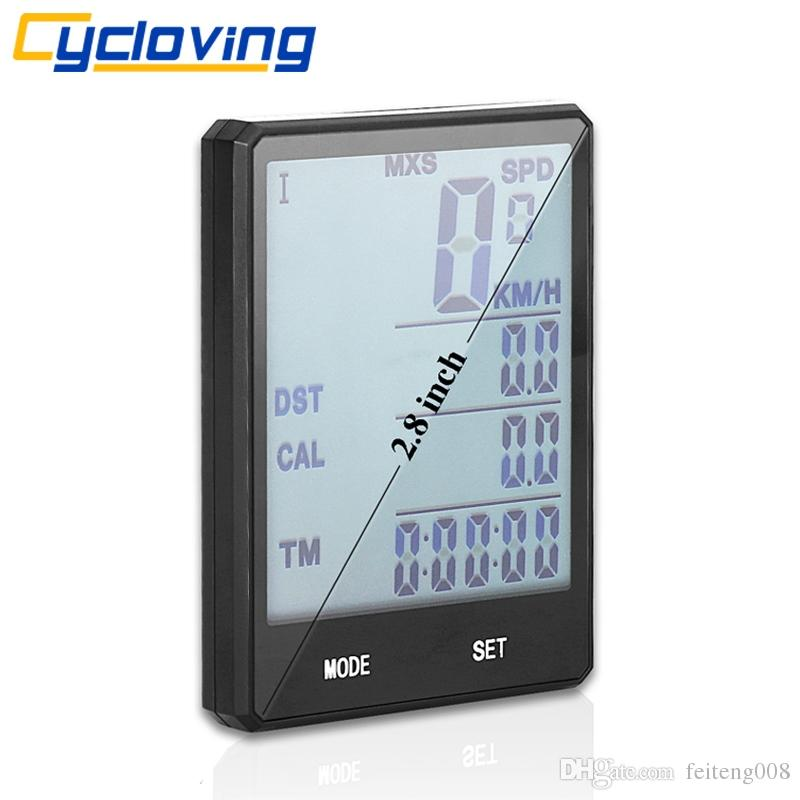 "Cycloving Bike Computer bicycle Speedometer Wireless Odometer waterproof 2.8"" Touch Cycling Stopwatch MTB Bike accessories #24204"