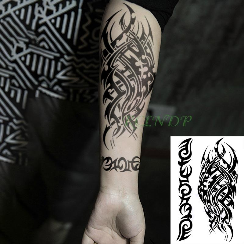 ec4be8d1d6961 Heap Temporary Tattoos Waterproof Temporary Tattoo Sticker Tribal Totem Old  School Fake Tatto Flash Tatoo Tatouage Stickers Hand Arm For ... Power  Supply ...