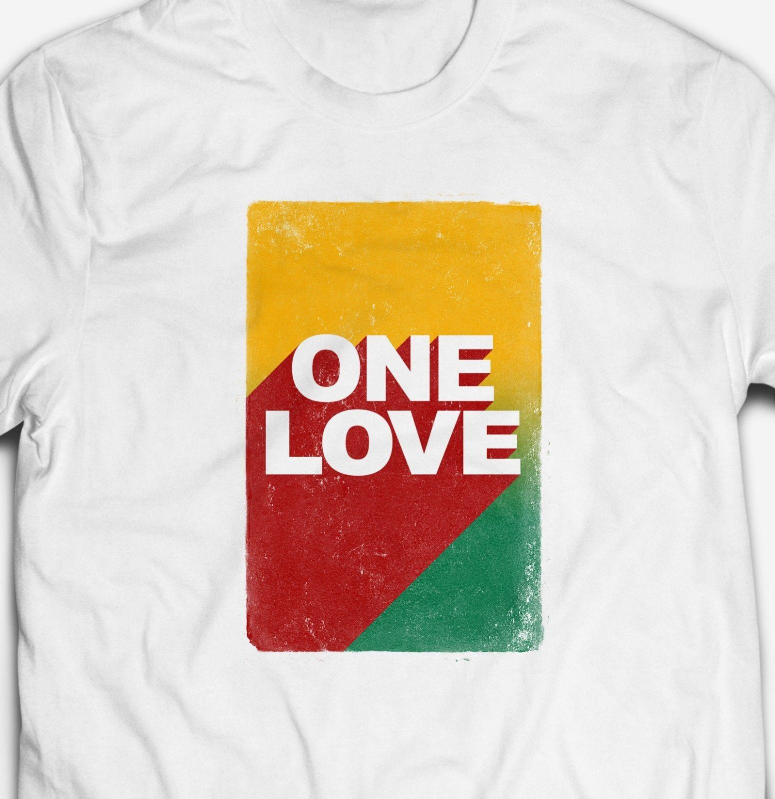 JAMAICAN ONE LOVE REGGAE RASTA JAMAICA DUB MUSIC 100%cotton Mens T-shirt  TEE mens pride dark t-shirt