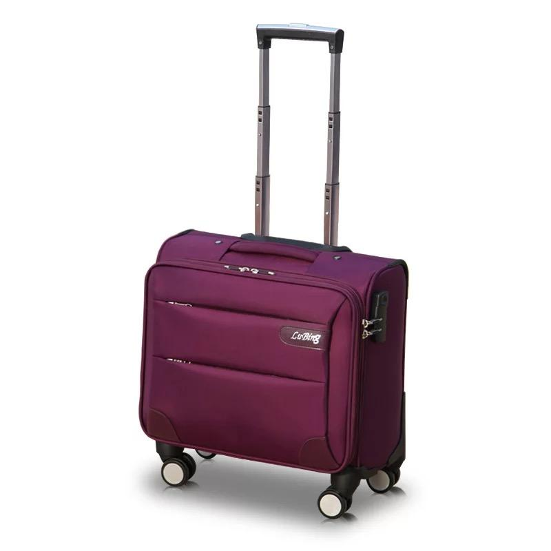 GraspDream 2018 New Fashion 16/18 Size Rolling Luggage Spinner Brand Travel Suitcase Women Boarding Bag Carry On Suitcases Trunk