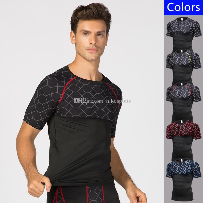 Geschickt 2019 Sport Männer T-shirt T-shirt Kurzarm Kompression Shirt Gym T-shirt Fitness Männer Der Hemd Laufs-t-shirts