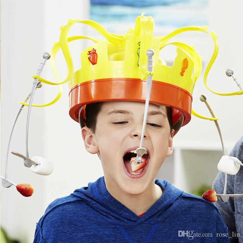 New kids Novelty Family Novel Chow Crown Game Musical Spinning Crown Snacks Food Party Toy Child funny Family Top Gift decompression Toys B