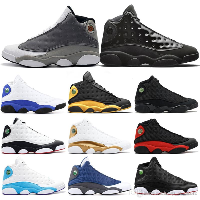 7f2f0eb5141997 2019 Basketball Shoes 13s Mens Atmosphere Grey Cap And Gown Melo He Got  Game Black Cat Playoff Flint DMP Sports Sneakers 7 13 Cp3 Shoes Kids  Sneakers From ...