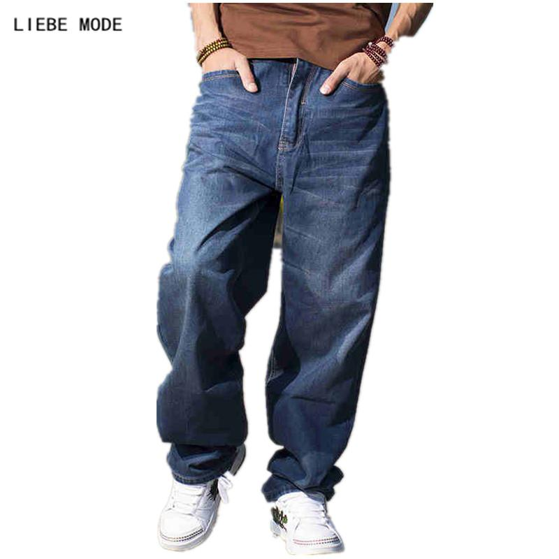 b34a6852991 2019 Baggy Style Brand Mens Loose Jeans Plus Big Size Jeans Men Hip Hop  Long Skate Board Jean Harem Pants Blue 38 40 42 44 46 From Housecoat