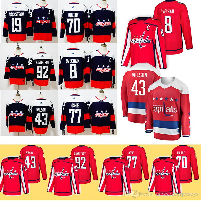c8ff881502c Alex Ovechkin Washington Capitals 43 Tom Wilson NEW 19 Nicklas Backstrom  Jerseys 77 TJ Oshie 92 Evgeny Kuznetsov 70 Braden Holtby UK 2019 From ...
