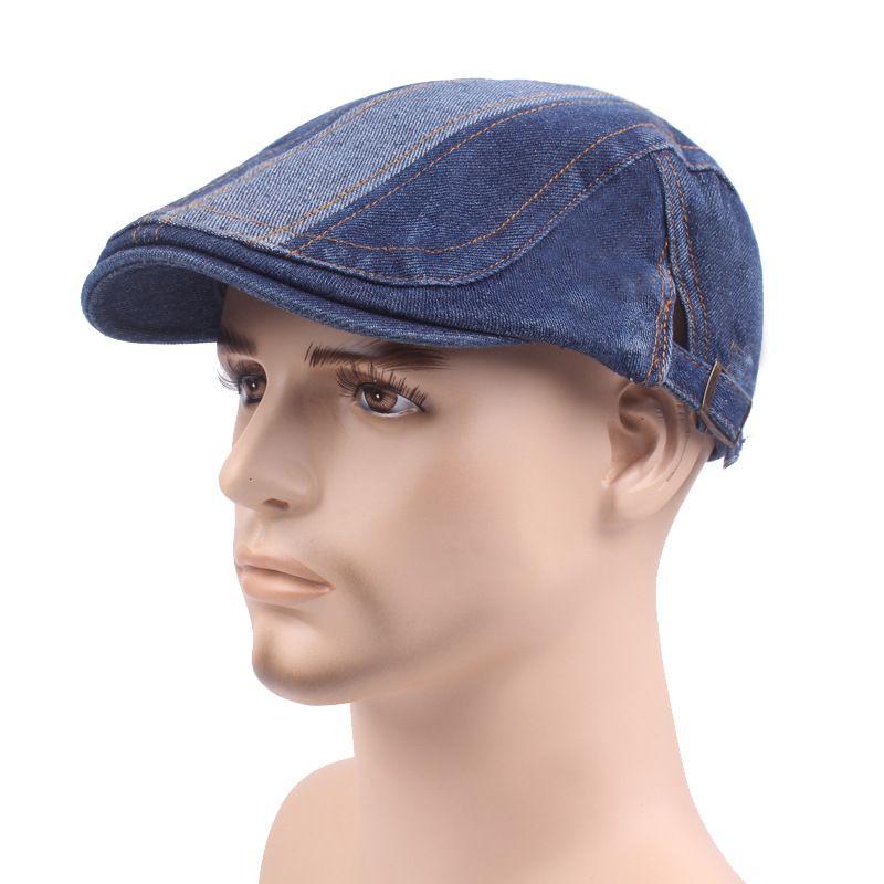 2019 Denim Beret Hat Men Washed Duck Hat Vintage Do Old Front Hat Travel  Visor Women S From Yiwu fashion 503fa83c196