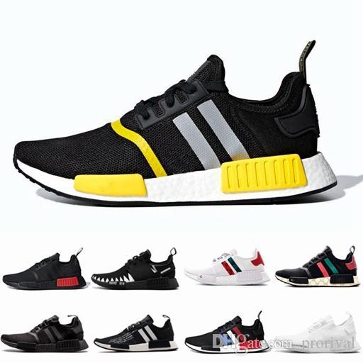 2019 Nuevo Adidas R1 Runner atmos Bred Zapatos para correr Nbhd Primeknit Tricolor OG Classic Hombres Mujeres Japón Triple Negro blanco Trueno