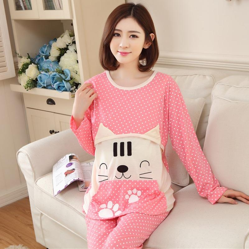 d563217a12977 Maternity Nursing Pajamas Cartoon Dots Pregnancy Sleepwear Tops Pants  Pregnant Nightgown Spring Breast Feeding Nightwear Sleep & Lounge Cheap  Sleep & Lounge ...