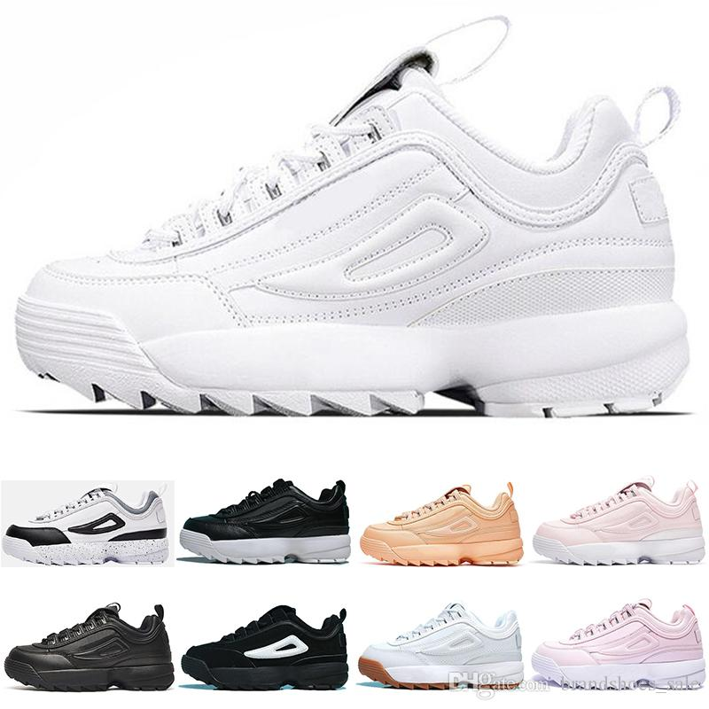 New Designer Disruptors Triple white black grey pink Women men special section sports sneaker increased Jogging running shoes size 36 44