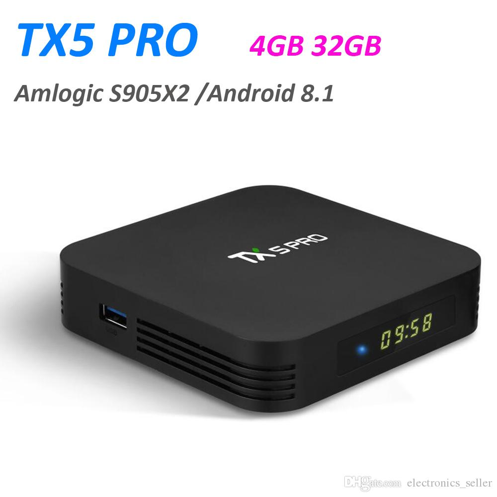 Android 8 1 Smart TV Box Amlogic S905X2 Quad Core 4GB 32GB TX5 Pro Mini PC  Wifi 4K 3D Streaming Media Player VS TX3 Pro T95Q Set Top Box