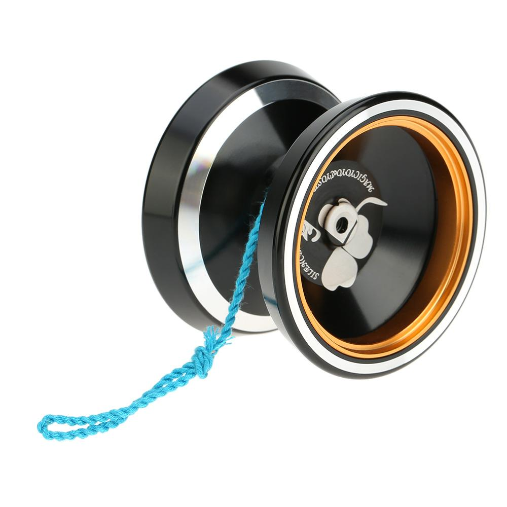 magic 2 Colors Popular Kids Toys Professional Magic Yoyo M001 Aluminum Alloy Yo-yo CNC lathe T Bearing with Spinning String