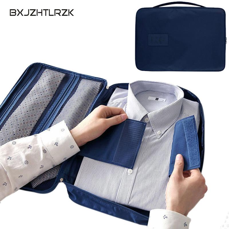 Men's Nylon Luggage Travel Case for Lightweight Shirts Packaging Storage Bags Clothes Cubes Packaging Cases Luggage Cases