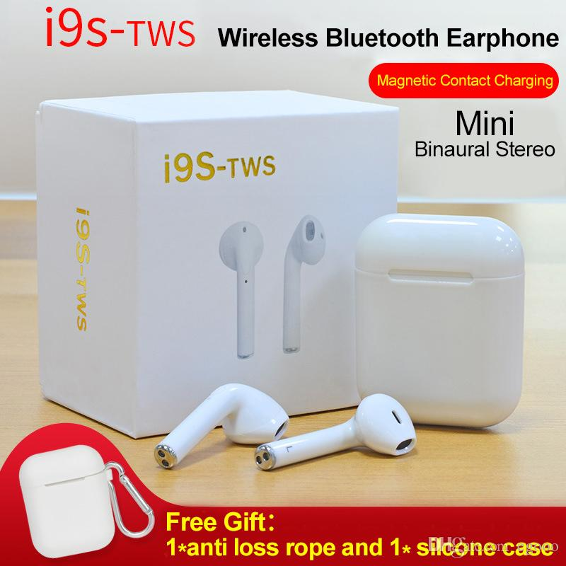 53b4632fc5b Double Ear I9s TWS Twins Double Wireless Bluetooth Earphone With Charger  Dock V5.0 Stereo Sport Earbuds Headphone For IPhone Andriod Best Bluetooth  Headset ...