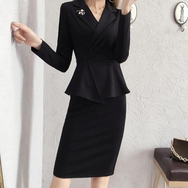 92eee19d15 Compre Elegantes Trajes De Vestir Para Mujer Vintage Inglaterra Estilo De  Negocios Ropa De Trabajo Conjunto De Trabajo Para La Oficina De Dama Formal  Con ...