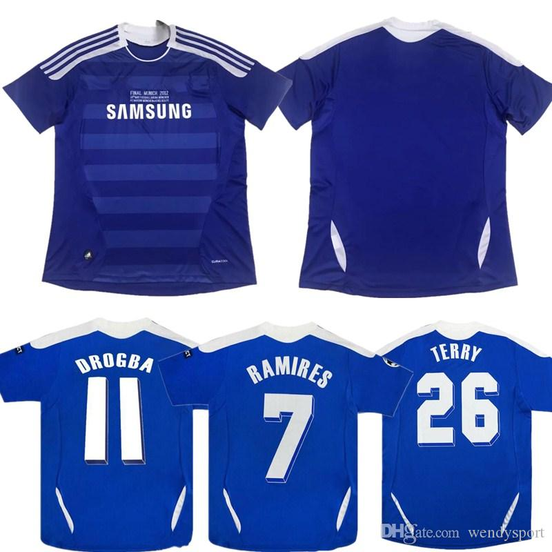 5ce545fadde 2019 Retro Classic 2012 CHELse Soccer Jerseys Football Shirts Top ...
