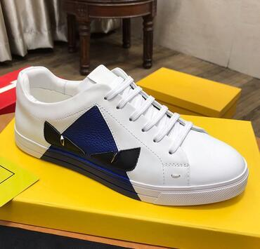 Top quality printed desginer Casual Shoes men's real Leather Shoes Mens sneaker for women and man size 38-45 22