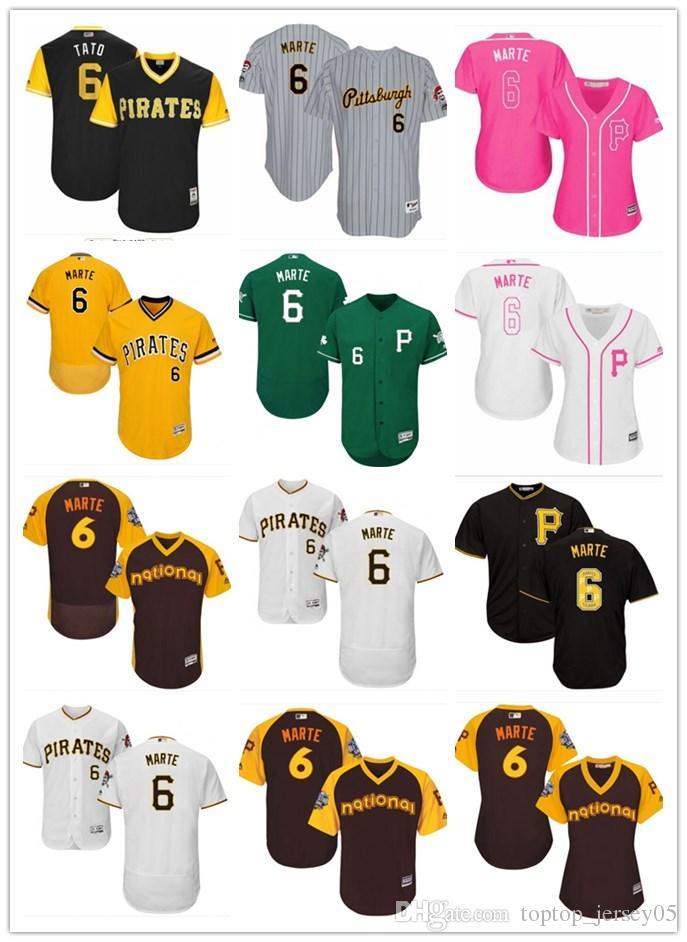 3124793ccfa 2018 top Pittsburgh Pirates Jerseys 6 Starling Marte Jerseys  men WOMEN YOUTH Men s Baseball Jersey Majestic Stitched Professional  sportswear