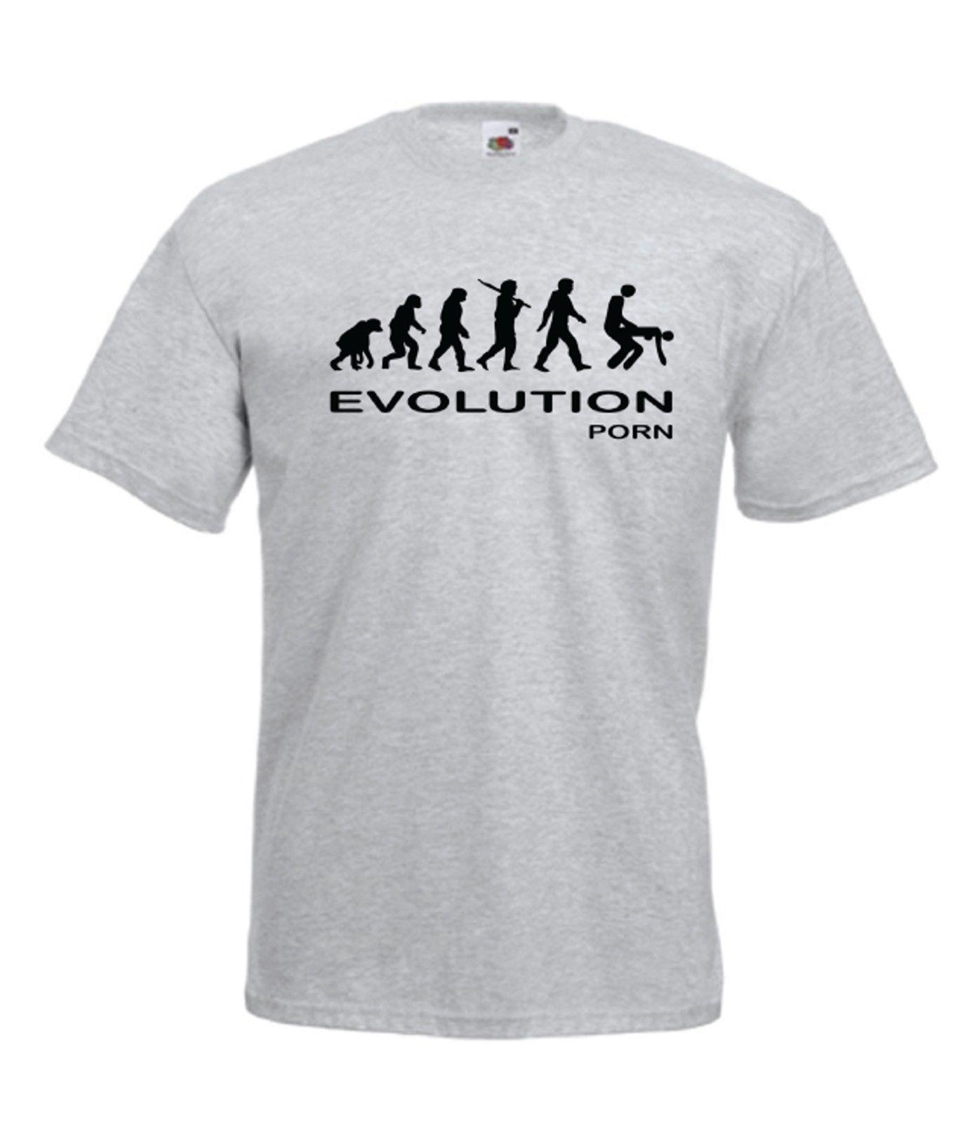 3b2624b9566bff Großhandel EVOLUTION PORN Lustiges Sexy Geschenk NEUE Männer Frauen T SHIRT  TOP Herren Stolz Dunkles T Shirt Weiß Schwarz Grau Rot Hose T Shirt Von  Smilecup ...