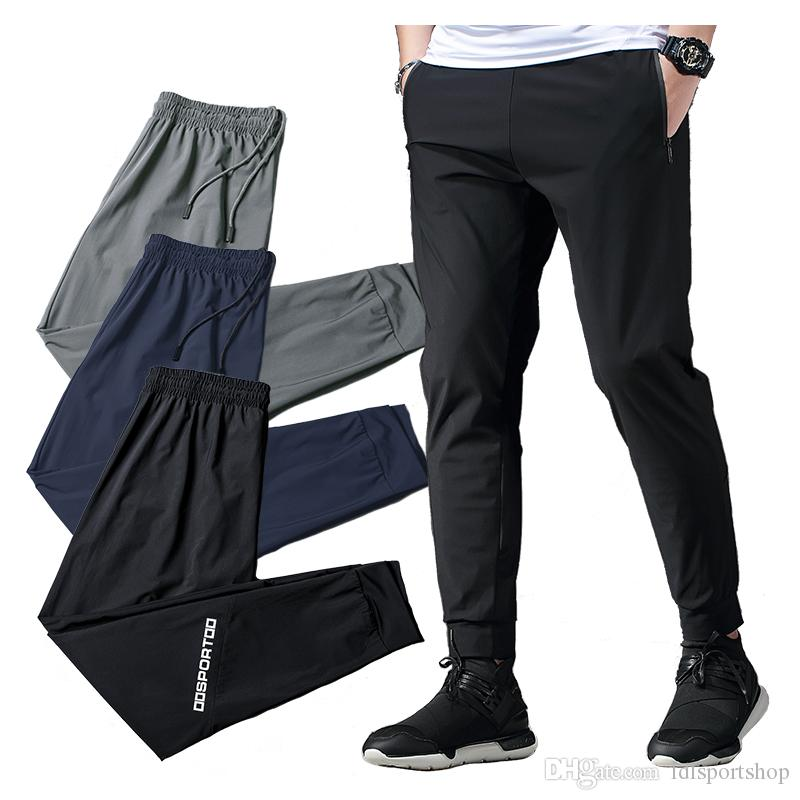 380082834d15f 2019 Men Sport Pants Jogging Workout Running Long Pants With Zipper Pocket Gym  Training Fitness Exercises Sportwear Trousers From Ldlsportshop, ...