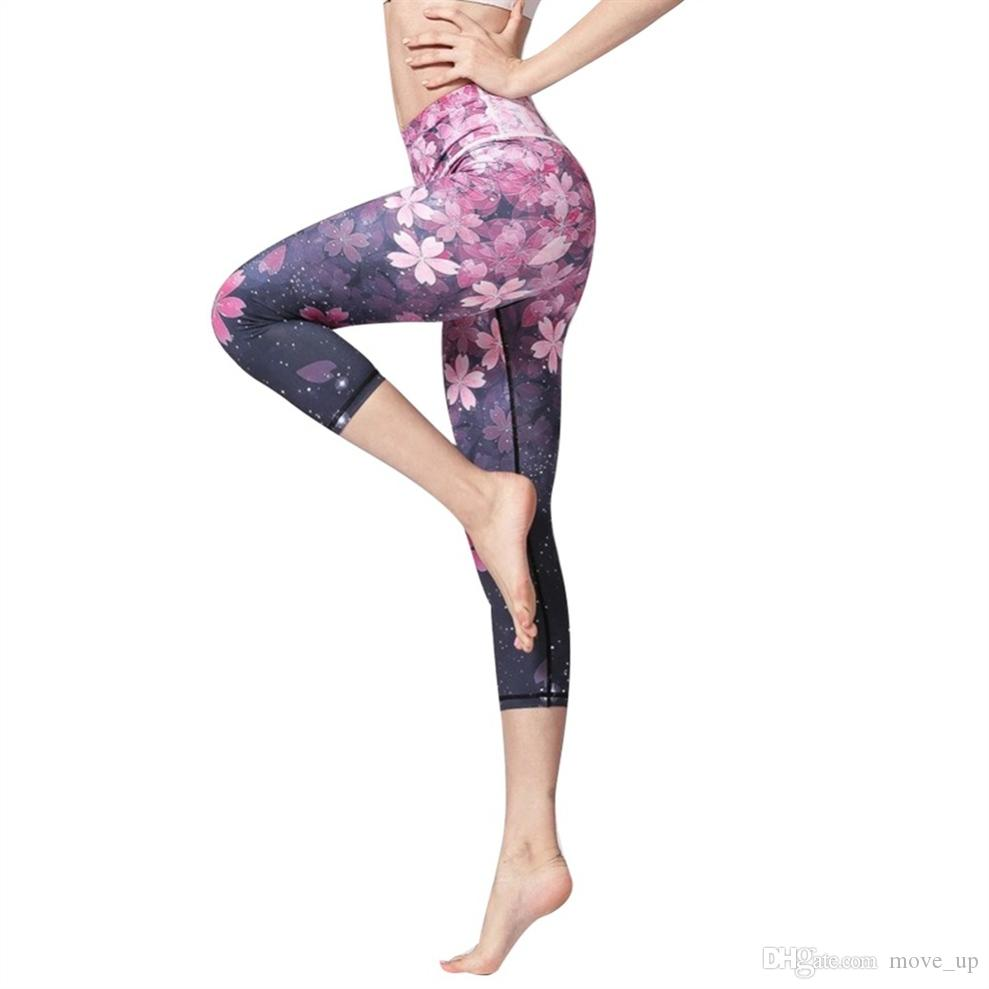 3d654589cdc75 2019 3D Digital Printed Yoga Leggings Women Flexible High Waist ...