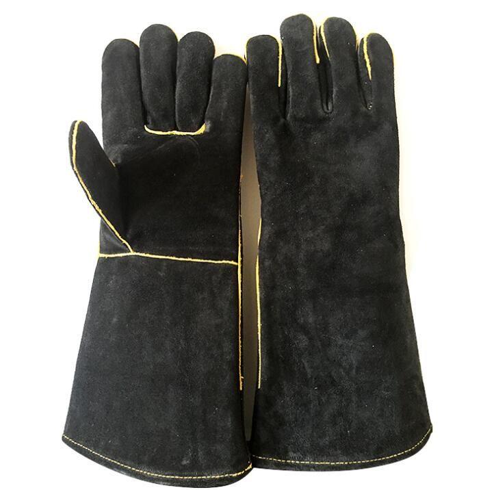 ricco e magnifico modelli alla moda il migliore Guanti per saldatori neri Guanti per lavori in legno per cucine industriali  in pelle spaccata