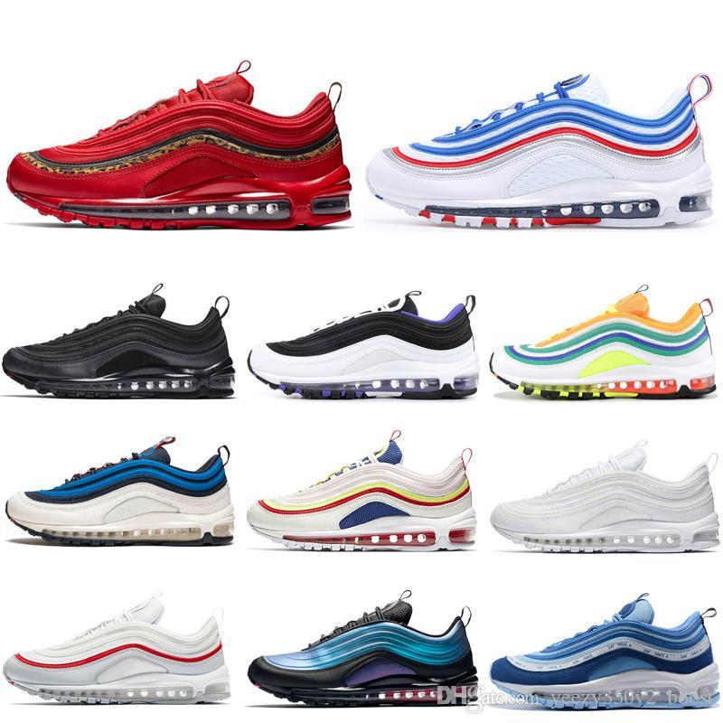 Nike Air Max 97 Off White Laufschuhe Weiß Sport Schuhe Für
