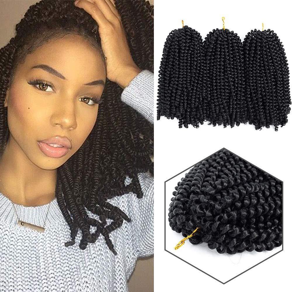 2019 New Style 8 Inch 3packs Spring Twist Crochet Hair Kinky Synthetic  Braiding Hair Crochet Braids Hair Extensions Synthetic Spring Twist Braids  From ...