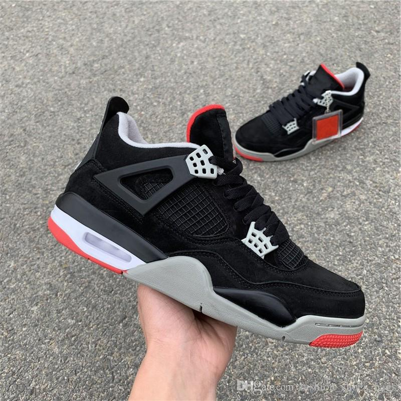 254e9a5c73c5 New 4 High Hydro IV Black Red High Quality Basketball Shoes Designer Mens  Women Shoes 4s Sneakers Casual Shoes Fashion With Double Box Athletic Shoes  Shoes ...
