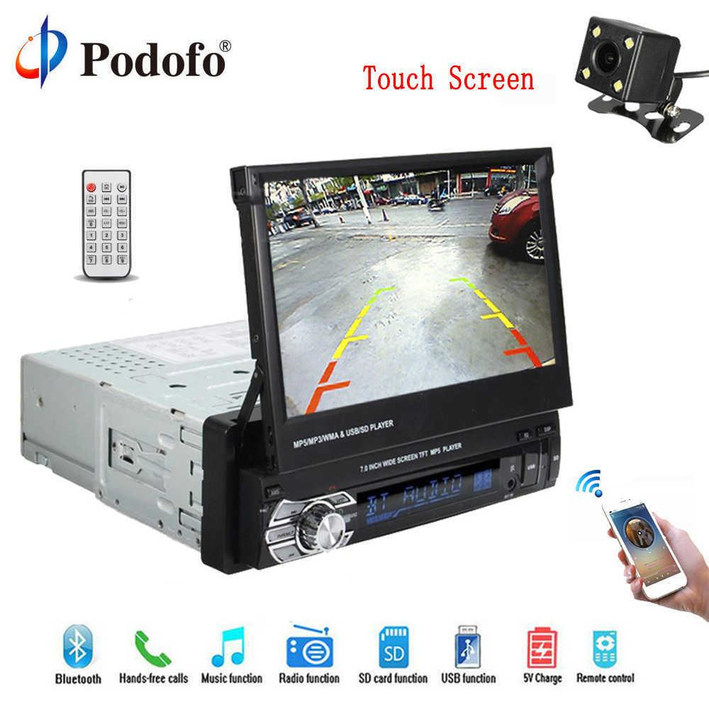 1 Din 7 Universal Car Radio G ps Navigation Autoradio Video Player  Bluetooth Retractable Touch Screen Mp5 Stereo Audio
