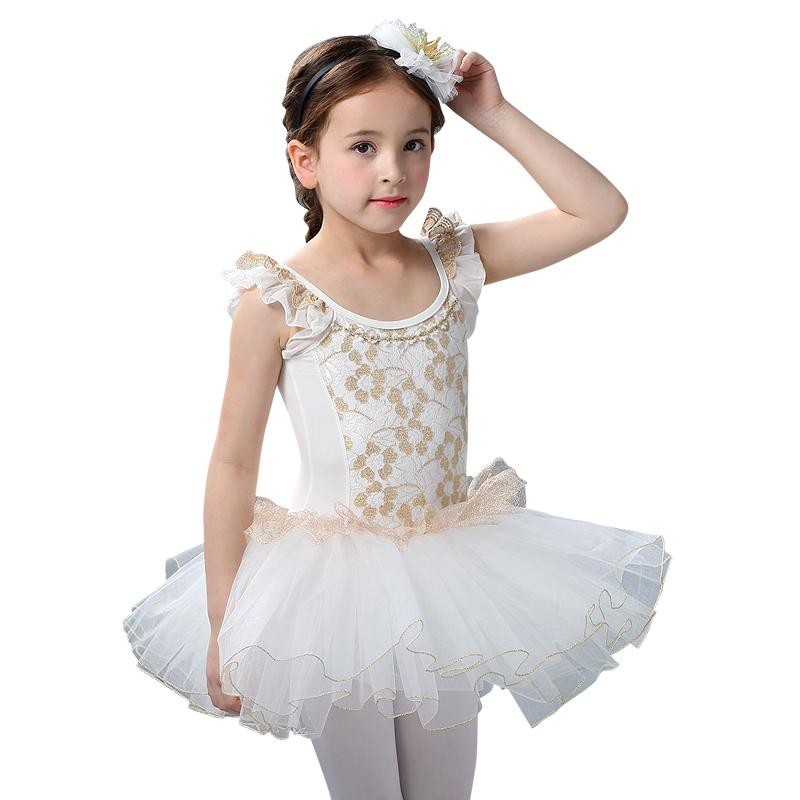 c323a1ceee993 Hollow Lace Cute Ballet Dress White/Pink Swan Lake Ballet Costume Perfect  Quality Ballerina Dress Dance Show Clothes For Girls