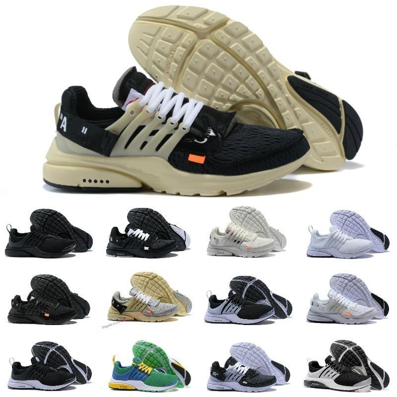 brand new 844fc 6ef27 Acheter 2019 New Nike Air Max Presto Airmax Off White Prestos Shoes  Original V2 BR TP QS Noir Blanc X Chaussures De Course Pas Cher Sport  Hommes Femmes ...