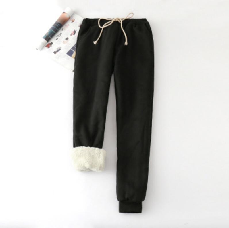 229fe43a9 Compre Outono Inverno Mulheres Casuais Calças De Veludo Harém Grosso Solto  Calças Quentes Feminino Com Cordão Calças Compridas Mulheres Pantalon Femme  De ...