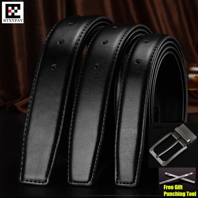 b31901007ace 30-35mm Cowhide Genuine Leather Belts for Men Brand Strap Male Pin ...