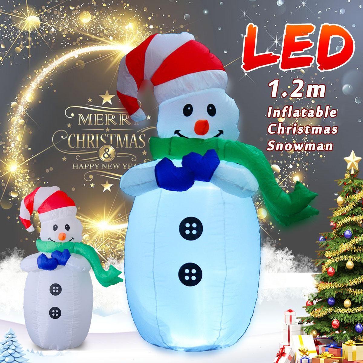 2019 120cm Christmas Air Inflatable Snowman Led Outdoor Garden