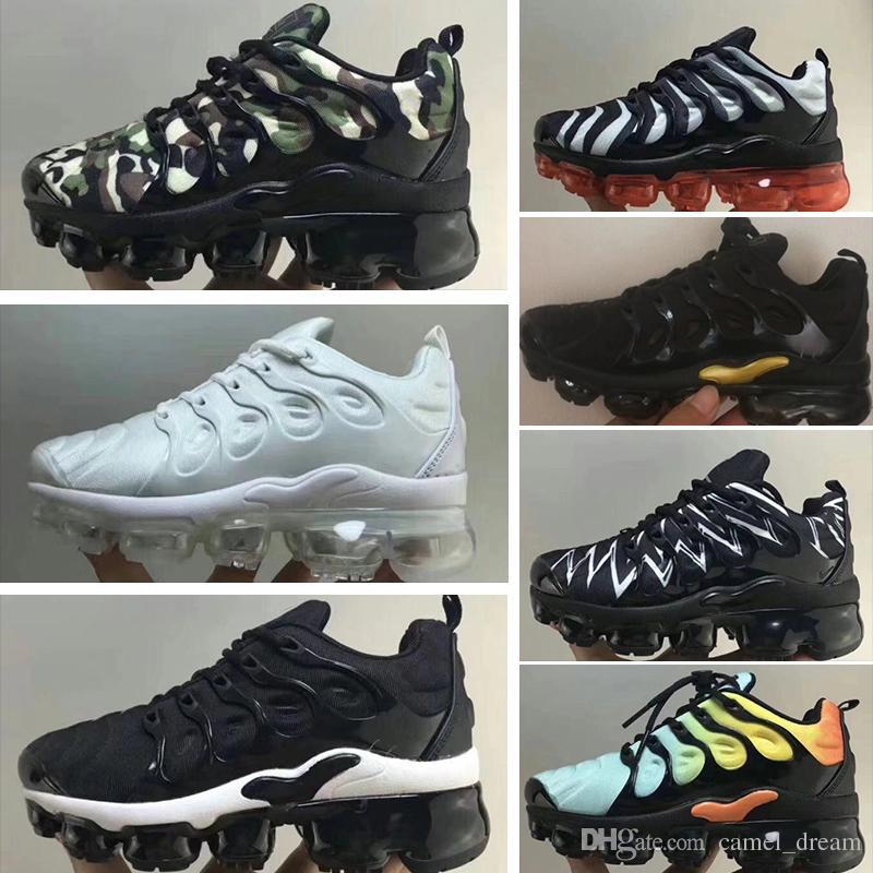 98a6c285ba5de Acheter Nike 2018 TN Air Max 2019 Enfants TN Plus Designer Chaussures De  Course Pour Enfants Garçon Filles Baskets Tn 270 Sneakers Classique En  Plein Air ...