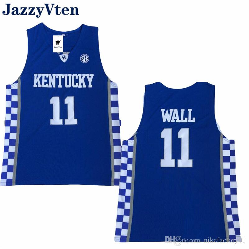 f44bbbeef31 2019 New Arrived Anthony Davis Kentucky Wildcats College Basketball 11 John  Wall Calipari Royal Blue White Stitched Karl Anthony Towns Jersey From ...