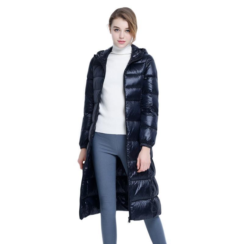 new concept 45276 47f25 Schwarze Daunenjacke Frauen Mit Kapuze Wintermantel Damen Lange Mäntel Plus  Größe Ente Daunenmantel Korean Fashion warm Womens Mäntel Parka 3XL