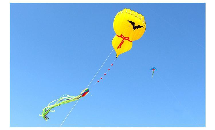 El Nuevo Volar Fácil Al Aire Inflable 3d Calabaza Juguete De Libre Kite Es RSAj4Lc35q
