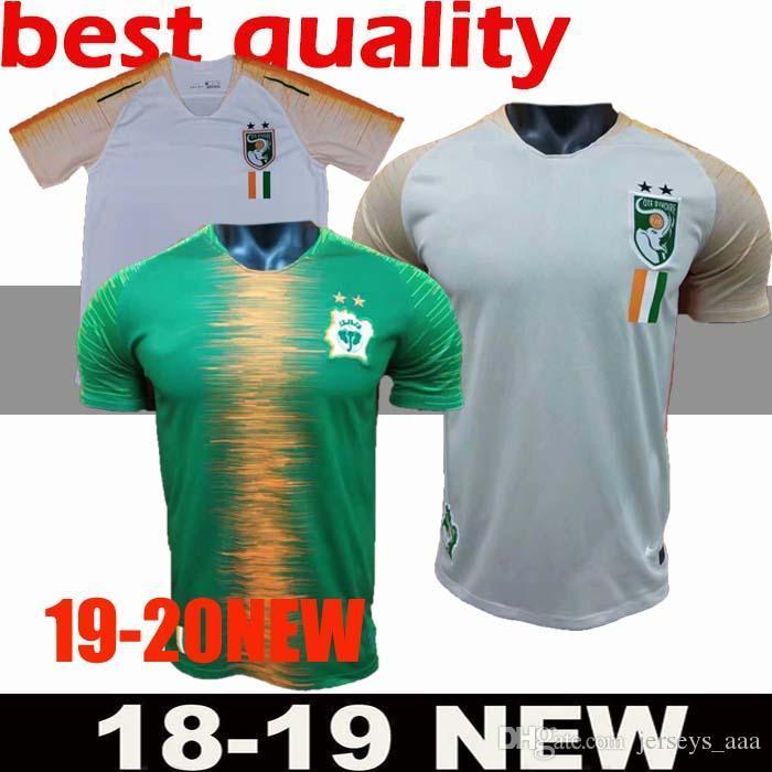 best loved 6b95f 57d97 2018-2019 Ivory Coast Soccer Jersey 11 Didier Drogba Football Shirt 18 19  Uniforms Custom Thailand 8 KALOU 10 GERVINHO 19 TOURE YAYA adult m
