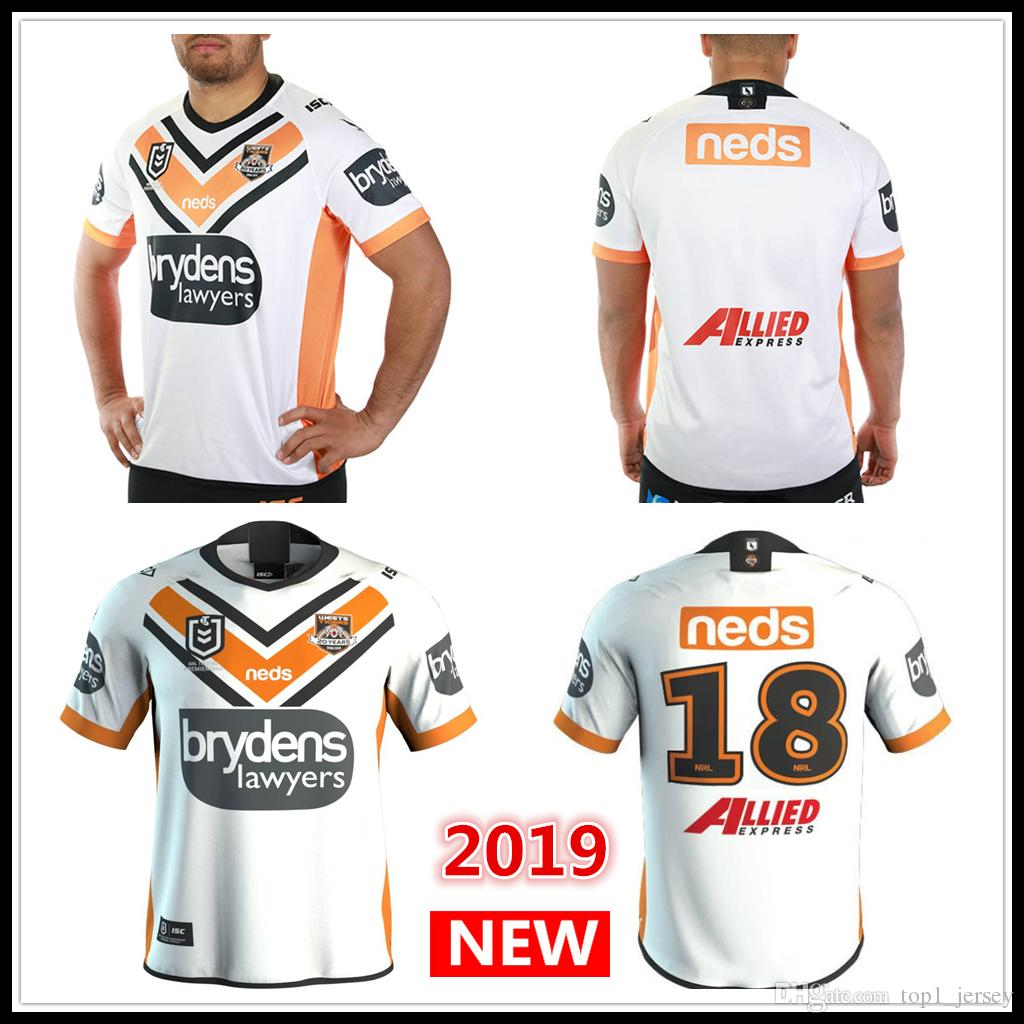 69a53954d4f 2019 2019 2020 WESTS TIGERS Home Away JERSEY Rugby Jerseys NRL National  Rugby League Nrl Jersey Wests Tigers Shirt S 3xl From Top1_jersey, $16.88    DHgate.