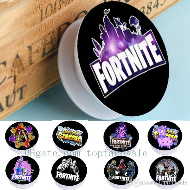 2019 fortnite print gasbag silicone bracket hand phone rack round phone flexible mobile cell phone stand holder for iphone samsung xiaomi huawei from - fortnite round image