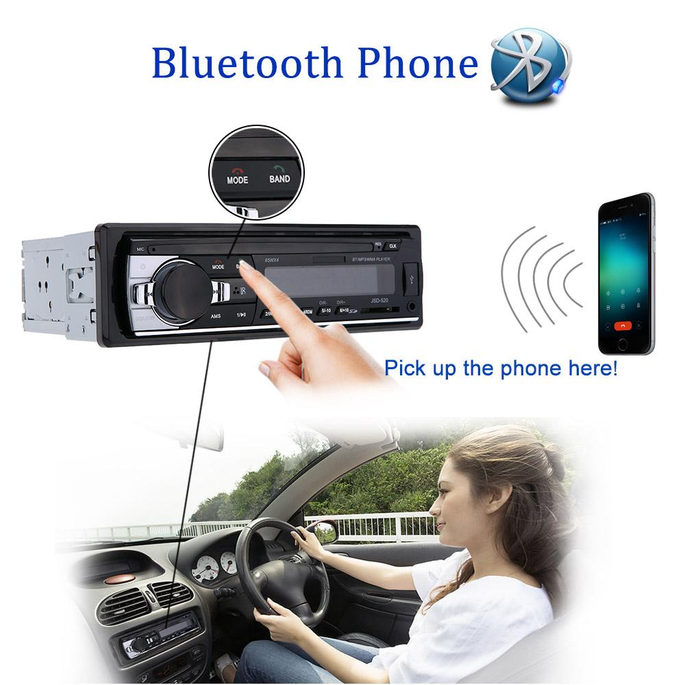 Freeshipping Car Stereo Bluetooth Radio Audio Player Receiver In-Dash FM Aux Input WMA WAV MP3 Player with SD/USB Port