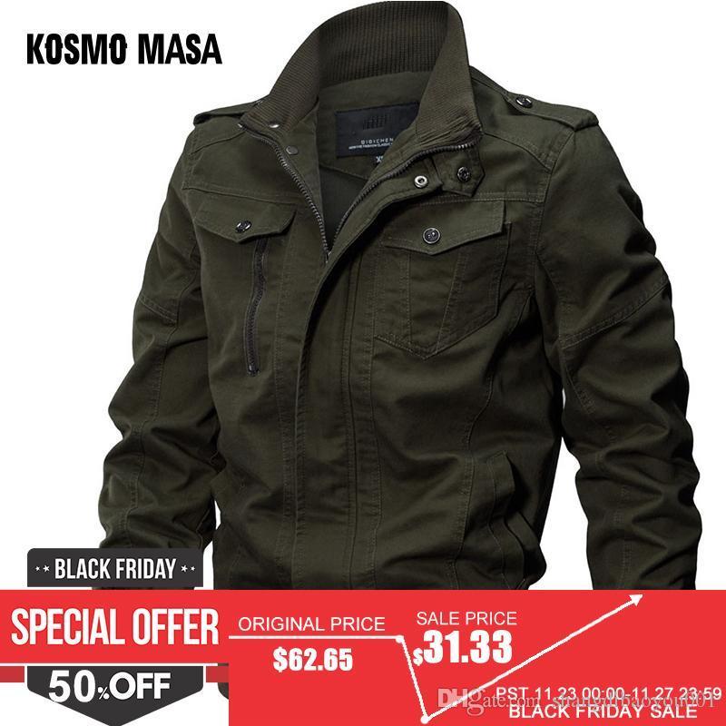 696ca40913ab4 Großhandel KOSMO MASA Bomberjacke Männer Herbst Winter 2018 Military Herren  Jacken Und Mäntel Schwarze Windjacke Für Männer Outwear MJ0074 Von ...